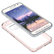 Slim Fit TPU Frame+Acrylic Back Transparent Clear Case Shockproof Impact Protective Cover For Samsung Galaxy S7 Active G891