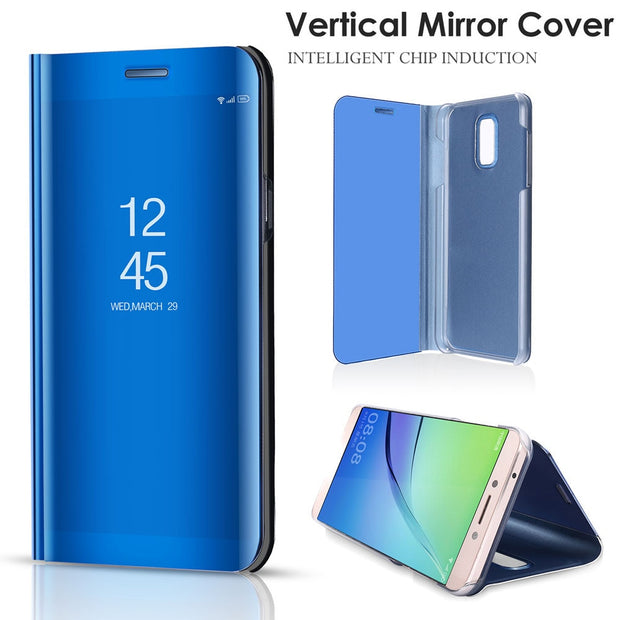 size 40 a1414 8b2ba Smart Mirror Flip 5For Samsung Galaxy J2 J5 J7 MAX Duo Pro Core Nxt Plus  2018 Case For Samsung Galaxy C8 C10 C7 2017 Cover Case