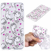 Soft TPU Cover For LG V30 Case Coque Transparent Cloud Unicorn Penguin Cat Koala Merry-go-round Cactus Covers Cases