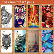 Soft Tpu Case For Oukitel U7 PLUS Cover Eiffel Tower Beauty Flower Cool Animal Stylish Painting Case Cover FOR OUKITEL U7 Plus