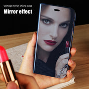 Stand Flip Leather Mirror Case For Xiaomi Mi A1 Redmi 5 Plus Note 4 4X 5A Prime Mi5X Phone Holder Cover View Clear Plating Case