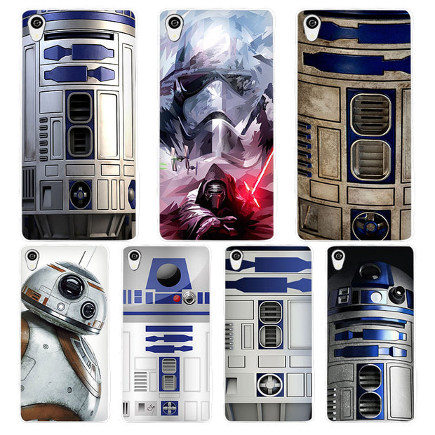 new style 79d19 62655 Star Wars R2D2 White Phone Case Cover For Sony Xperia Z1 Z2 Z3 Z4 Z5 M4  Aqua C4 XA XZ E4 E5 L36H