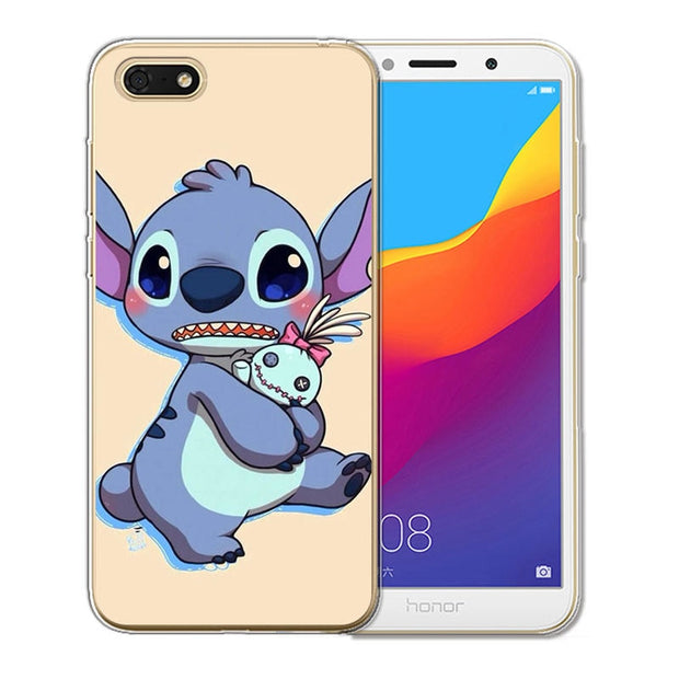 Stitch Phone Case Back Cover For Coque Huawei Honor 6X 6A 7 7X 7C 7A