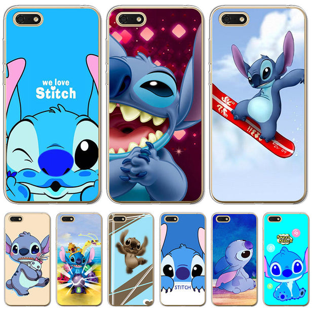 Stitch Phone Case Back Cover For Coque Huawei Honor 6X 6A 7 7X 7C 7A Pro 8  8X 9 10 Lite Soft Silicone Cool Cute Luxury Cartoon