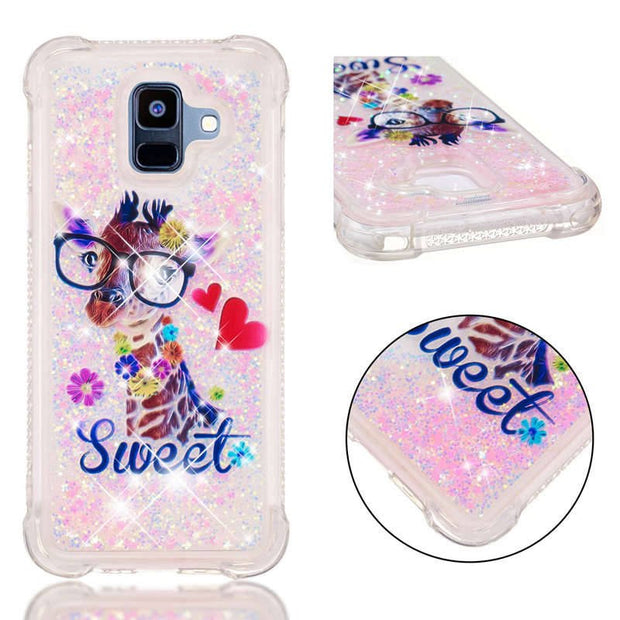 TPU Dynamic Liquid Glitter Bling Anti-knock Sand Case For Samsung Galaxy A6 A8 Plus 2018 A3 A5 A7 2017 A310 A510 A5 2016 Cover