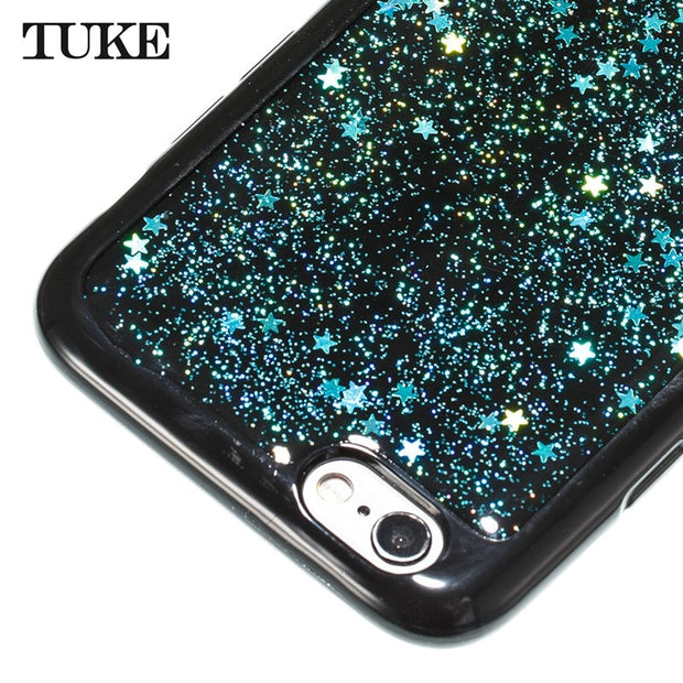 TUKE Bling Liquid Phone Case For IPhone6 6S Case Epoxy Pentagram Soft Silicone Case Cover For IPhone 6 6s Cover