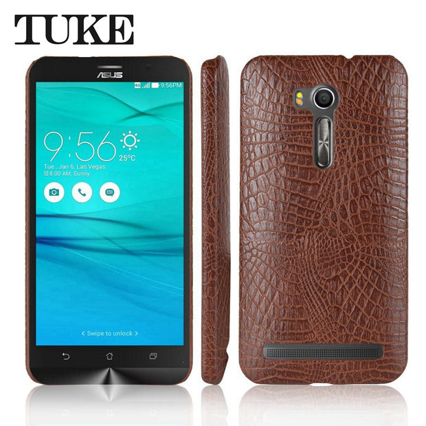 TUKE Crocodile Pattern Case For Asus ZB551KL Hard PC Back Cover For Asus Zenfone GO ZB551KL PU Coque Zenfone GO Live ZB551KL