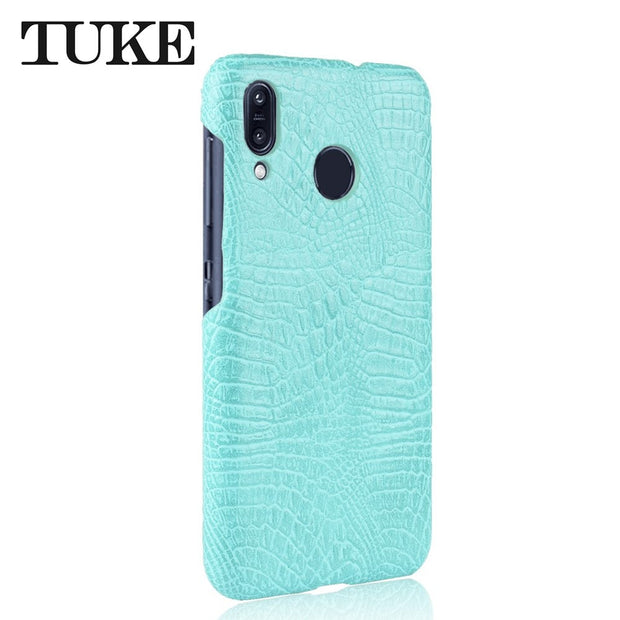 TUKE Crocodile Pattern Case For Asus ZB555KL Hard PC Back Cover For Asus Zenfone Max M1 ZB555KL Coque Leather Celular Etui Funda