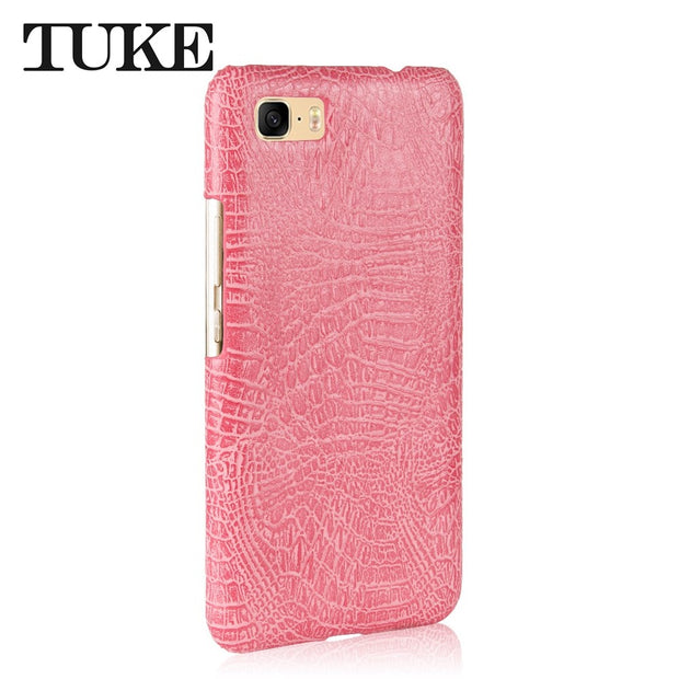 TUKE Crocodile Pattern Case For Asus ZC521TL Hard PC Back Cover For Asus Zenfone Max 3s ZC521TL Leather Coque For Asus 3 S Max