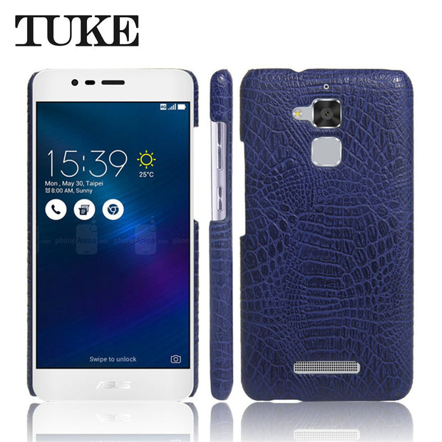 TUKE Crocodile Pattern Case For Asus Zenfone 3 Max ZC520TL Hard PC Back Cover For Asus Zenfone Pegasus 3 X008 Coque Leather Etui
