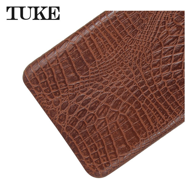 TUKE Crocodile Pattern Case For Blackberry Keyone Hard PC Back Cover For Blackberry Mercury PU Capa For Keyone Blackberry Dtek70