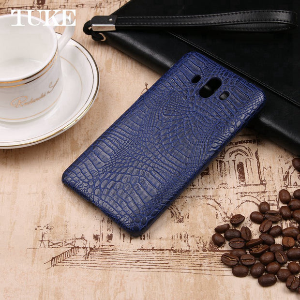 TUKE Crocodile Pattern Case For Huawei Mate 10 Hard PC Back Cover For Huawei Mate10 Coque For Huawei.Mate 10 Leather Celular