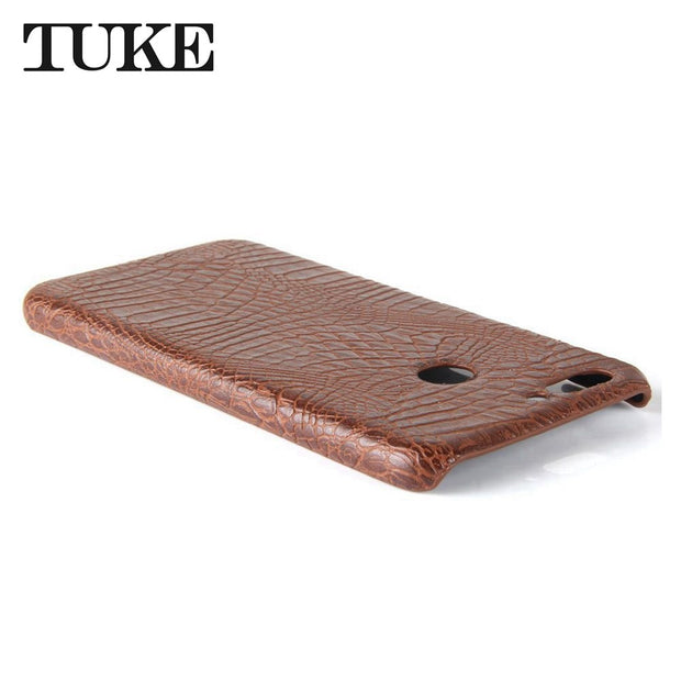 TUKE Crocodile Pattern Case For Huawei Nova 2 Hard PC Back Cover For Huawei Nova2 Coque For Huawei Nova 2 Pic-lx9 Leather Funda