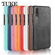 TUKE Crocodile Pattern Case For Huawei P20 Hard PC Back Cover For P20 Huawei Coque For Huawei P20 Accessories Leather Funda Etui