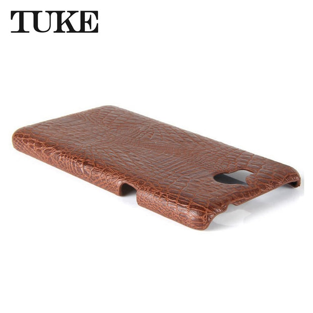 TUKE Crocodile Pattern Case For Huawei Y6 2017 Etui Hard PC Plastic Back Cover For 2017 Huawei Y6 MYA-L41 Hoesje Leather Coque