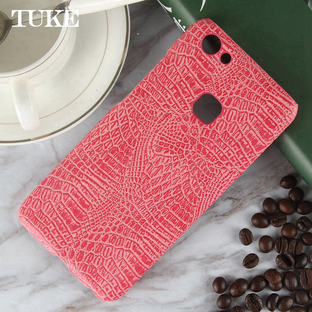 TUKE Crocodile Pattern Case For Vivo V7 Plus Hard PC Back Cover For BBK Vivo Y7plus Mobile Phone Leather Capa For V7 Plus Vivo