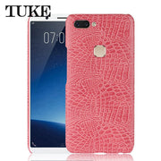 TUKE Crocodile Pattern Case For Vivo X20 Hard PC Back Cover For Vivo X 20 Mobile Phone Leather Capa For X20 Vivo Luxury Plastic