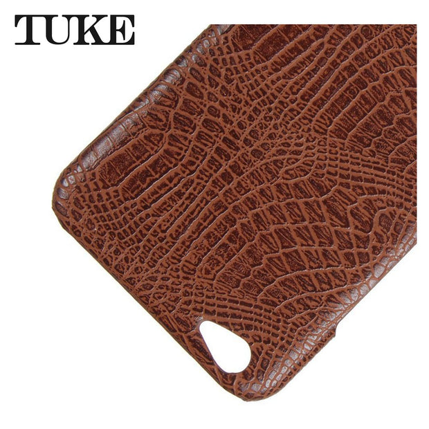 TUKE Crocodile Pattern Case For Vivo X9 Hard PC Back Cover For Vivo V5 Plus Mobile Phone Leather Capa For Vivo V5Plus Fashion