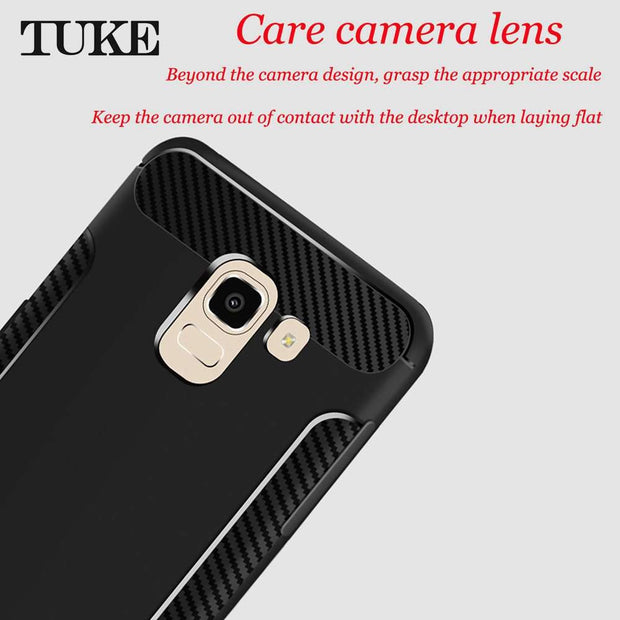 764f3355611 TUKE Phone Case For Samsung Galaxy J7 2018 EU Cover Soft TPU Back Case For  Samsung
