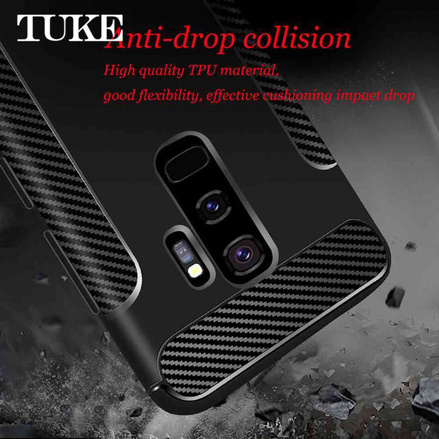 TUKE TPU Case For Samsung Galaxy S9 Plus Case Silicone Luxury Funda For Samsung S9 Plus Case Cover For Samsung Galaxy S9+ Capa