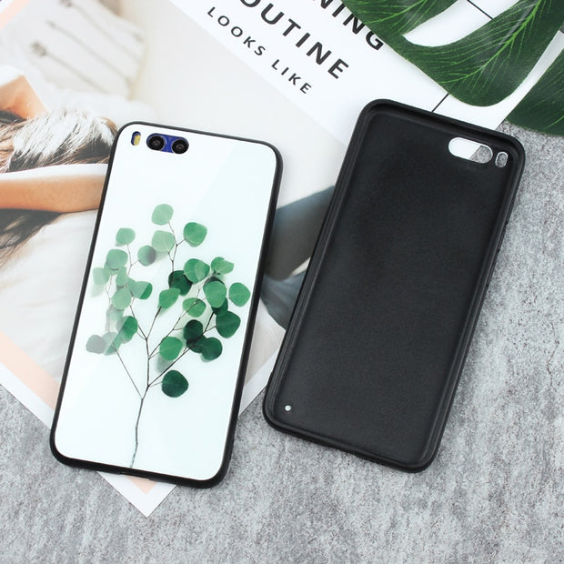Tempered Glass Back Cover Phone Case For Xiaomi Mi 6 Full Shockproof Case For Xiaomi Mi 6 Silicone TPU Soft Edge Cases Shell