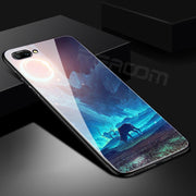 Tempered Glass Case For Xiaomi Mi A1 Soft Silicon Cover For Xiaomi Redmi Note 4X 5 Pro 5 Plus Mi 5X Space Patterned Fitted Coque