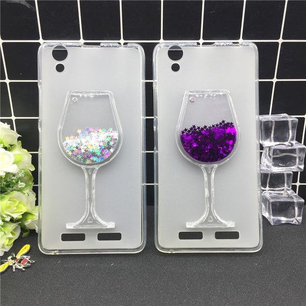 Thick Dynamic Liquid Phone Cases For Lenovo K10 K10e70 Heart Glitter Sequins Soft Silicon Back Cover Sand Capa Cup