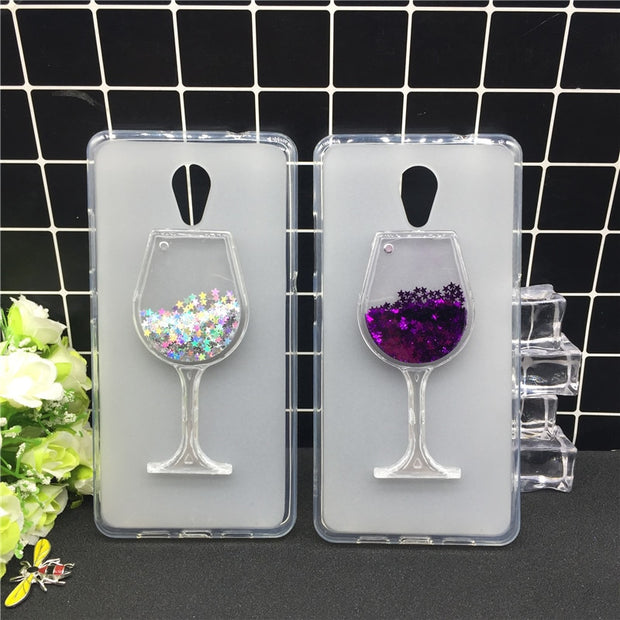 Thick Dynamic Liquid Phone Cases For Lenovo P2 P2c72 P2a42 Heart Glitter Sequins Soft Silicon Back Cover Sand Capa Cup