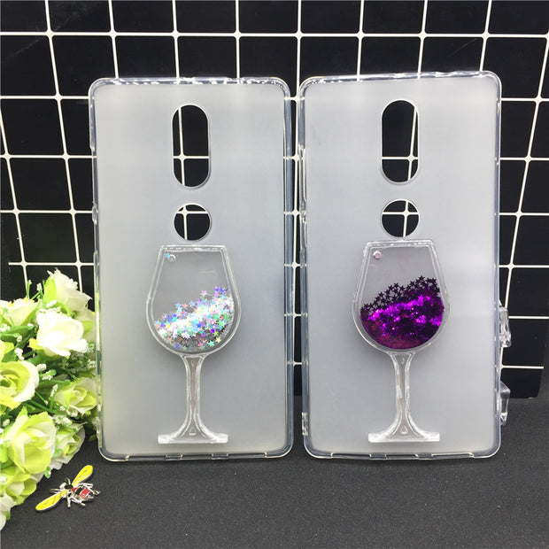 Thick Dynamic Liquid Phone Cases For Lenovo Phab 2 Plus Heart Glitter Sequins Soft Silicon Back Cover Sand Capa Cup