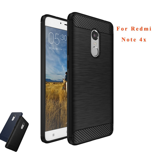 "Top Quality TPU Case For Xiaomi Redmi Note 4X Anti-knock Armor Carbon Silicone Back Cover Fundas For Redmi Note 4 X Case (5.5"")"