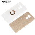 Tronsnic Soft Phone Case For Xiaomi Redmi 4 Shiny Powder Case With 360 Buckle Ring Cover Pink Gold Hot Fashion Metal Stand