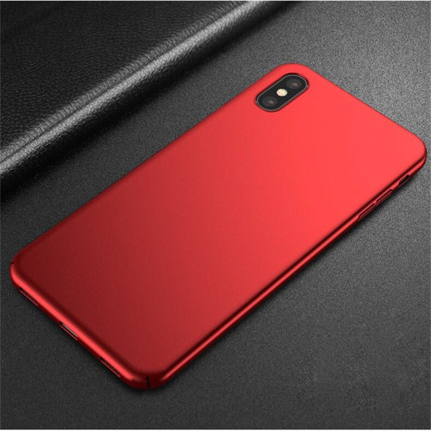 Ultra Thin Hard Matte Plastic Case For IPhone X 7 8 6 6S Plus 5 5S SE Colorful Slim Back Cover Funda