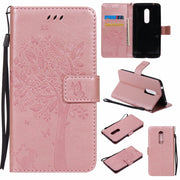 VCK Embossed Butterfly Cat Printed Pattern Tree For ZTE AXON 7 A2017 A110 Zmax Pro Z981 TPU Leather Luxury Wallet Cover Case