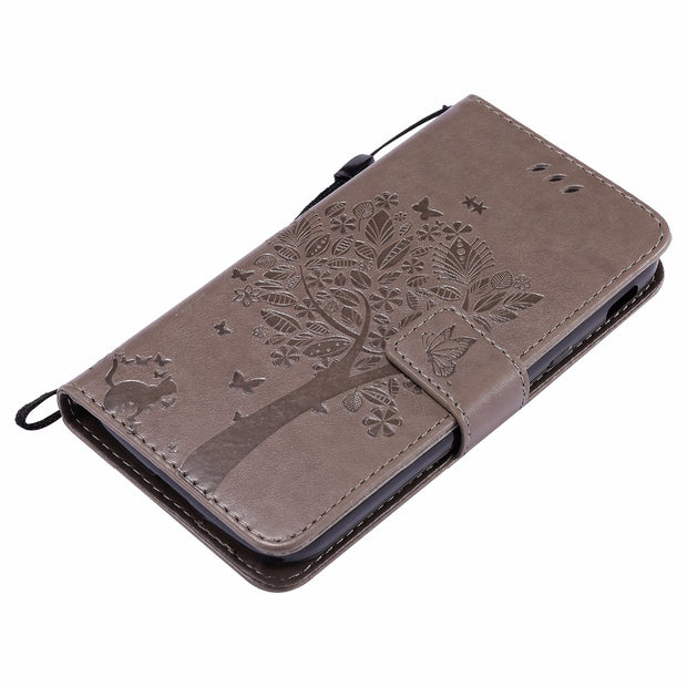 VCK Embossed Butterfly Pattern For Samsung Galaxy Xcover 4 G390F S8 Note 8 S9 A8 Plus Note 8 2018 TPU Leather Wallet Cover Case