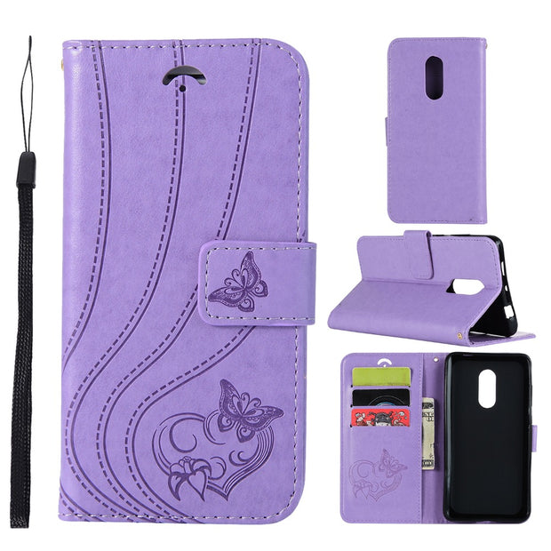 VCK For Xiaomi Redmi Mi 3 3S 3X 3 Pro Note 4 Note 4X Leather Wallet Silicone Flip Phone Case Cover 3D Butterfly Flower