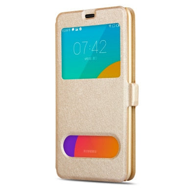 View Window Leather Case For Samsung Galaxy A3 A5 A7 2017 Magnet Flip Cover For A320 A520 A720 Mobile Phone Bag & Cases Fundas