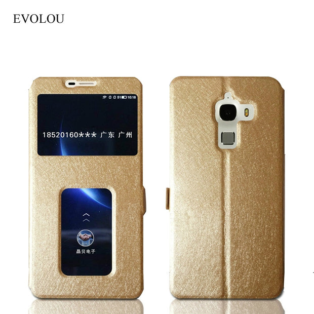 View Window Leather Case For Letv Leeco Le Max X900 / Max 2 X820 X821 Magnet Flip Cover For Leeco Max2 X900 Phone Cases & Bags