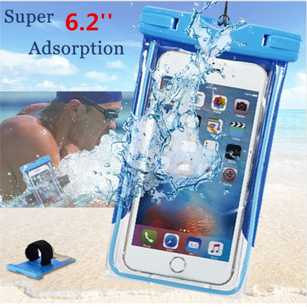 Waterproof Bag Case For IPhone X 8 7 6 Summer Underwater Swimming Clear Pouch For IPhone SE 5 5S Xiaomi Smartphone Cases