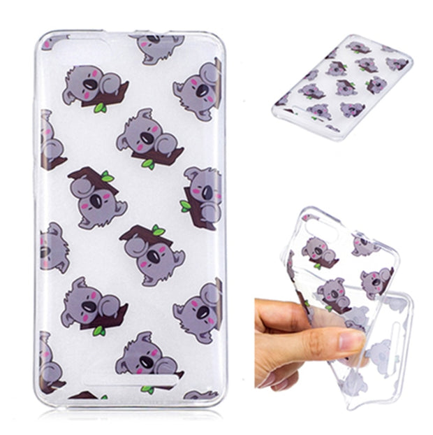 Wiko Lenny 3 Lenny3 Silicone Case Transparent Anime Animal Silicone TPU Soft Back Cover Case For Wiko Lenny 3 Lenny3 Soft Cover