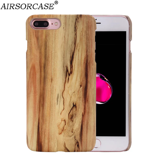 Wood Texture Hard PC Mobile Phone Cases For IPhone XS X 10 Case For IPhone 6 6S 7 8 Plus 7Plus 8Plus Back Cover Protective Shell