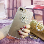 XSMYiss Fashion Bling Crown Case Cover Clear Soft Phone Shell Protection For IPhone X 5 SE 5C 6 6S 7 8 Plus