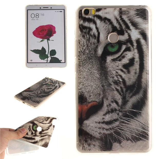 "Xiaomi Mi Max Case Silicon Skin Cute Animal Flower Anime Soft TPU Gel Back Cover Case For Xiaomi Mi Max 6.44"" Phone Shell Cover"