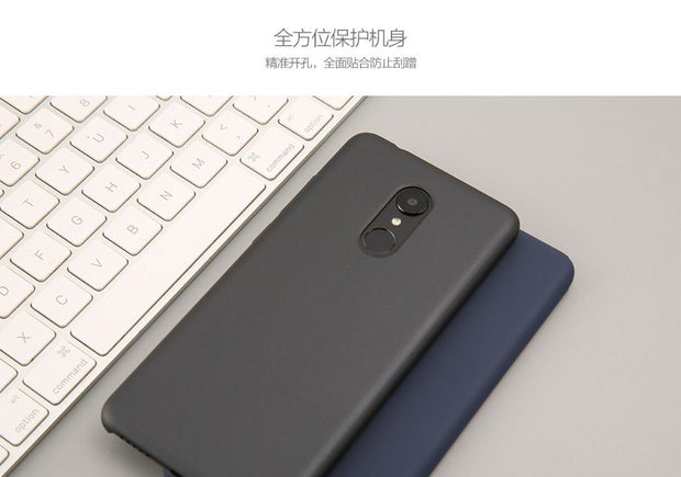 Xiaomi Original Case For Redmi 5 Ultra Thin Hard Case PC+Panting Protective Cover PET Screen Protector Redmi5