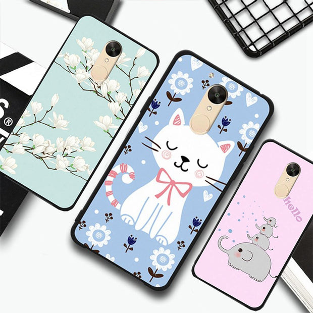 Xiaomi Redmi 5 Plus Case Silicone,8 Patterns Black Cool Case For Xiaomi Redmi 5 Plus Phone Case Cute 100% BiNFUL