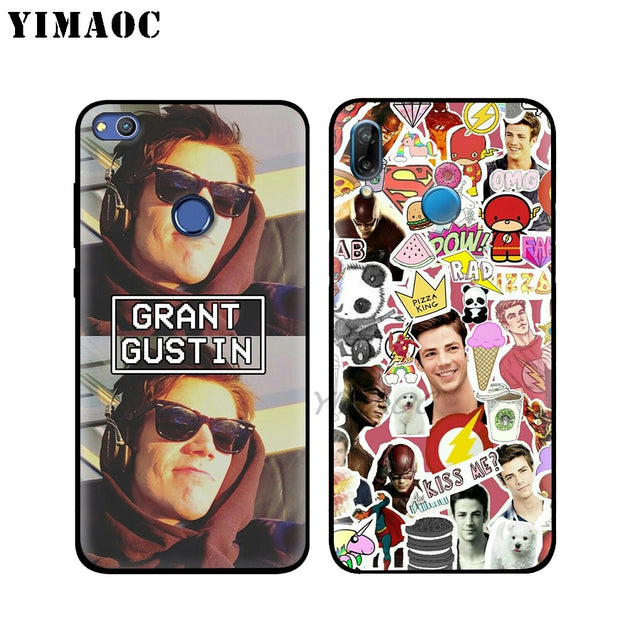 YIMAOC Grant Gustin The Flash Soft Silicone Case For Huawei Honor