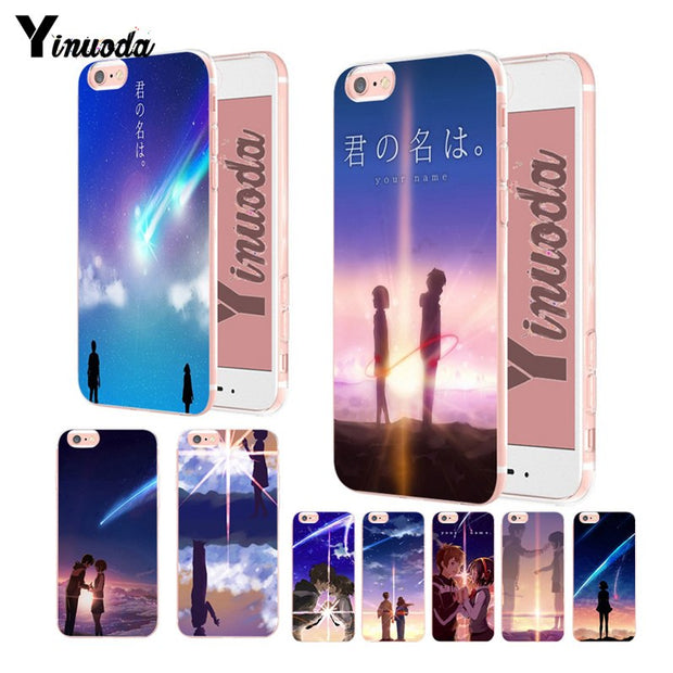 Yinuoda Anime Your Name Kimi No Na Wa Transparent Soft Silicone Cover Case For Iphone Xsmax X Xs Xr 7 7plus 8 8plus 6 6s 6plus