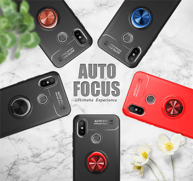 ZFTANG For Coque Xiaomi Mi 8 Mi8 SE Case Silicone Magnetic Finger Ring Car Holder Phone Cases For Xiaomi Mi 8 SE Case Back Cover