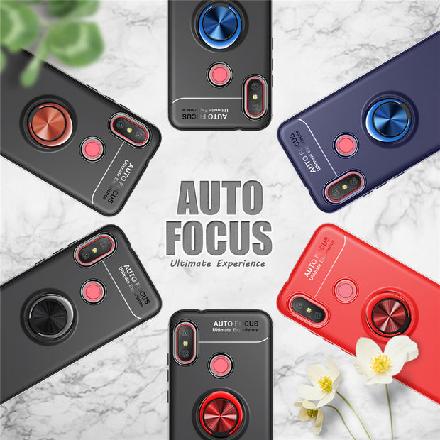 ZFTANG For Xiaomi Redmi 6 Pro 6A Case Silicone Magnetic Car Holder Finger Ring Phone Cases For Xiaomi Redmi 6A 6 Pro Case Cover