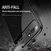 ZNP Luxury Phone Case For IPhone 7 6 6s 8 Plus X Slim PC + Glass Anti-knock Cover Cases For IPhone X 8 7 6 Plus Protective Case