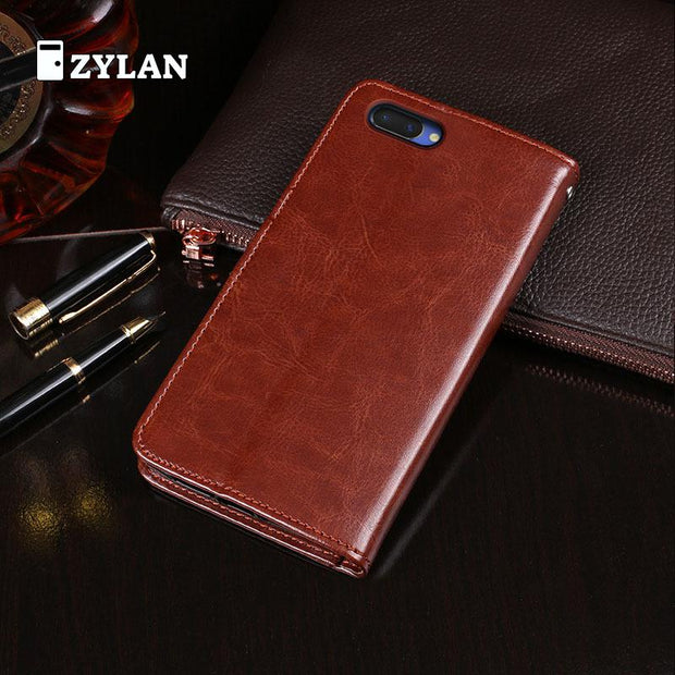 ZYLAN Leather Case For For Oppo A3 A5 Premium Wallet Leather Flip Case For Oppo A5 A 5 A3 PADT00 & FREE GIFT